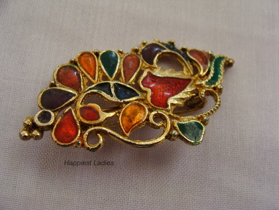 Fancy Sari Brooch+women in fashion