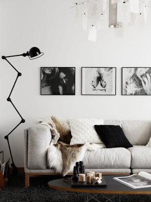 Sofá decoração P&B