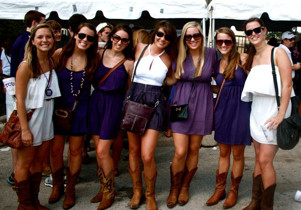 College Girls in Cowboy Boots Girls Sport Cowboy Boots