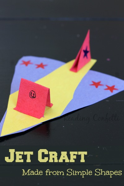 This jet craft is a fun way for boys or girls to practice their scissors skills.