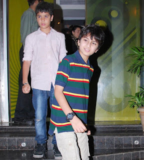 Saif Ali Khan's sons spotted