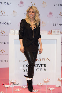 Shakira Pictures in Black Leather Pants at S By Shakira Perfume Launch in Paris ~ Celebs Next