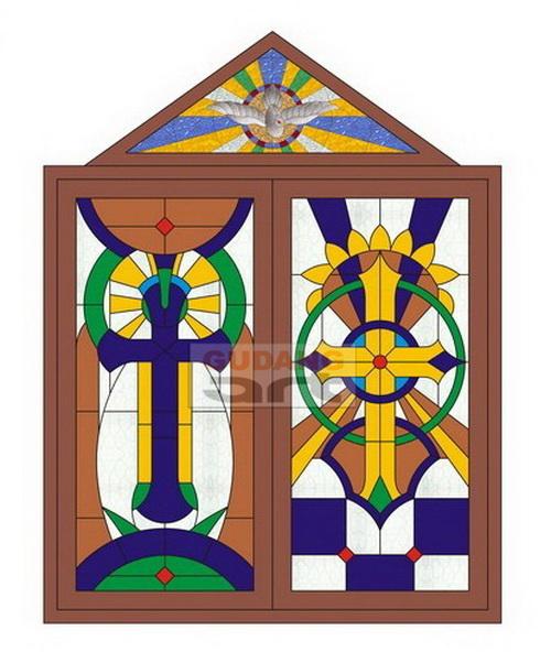 Desain Kaca patri gereja , Jendela kaca patri, Jendela gereja ...