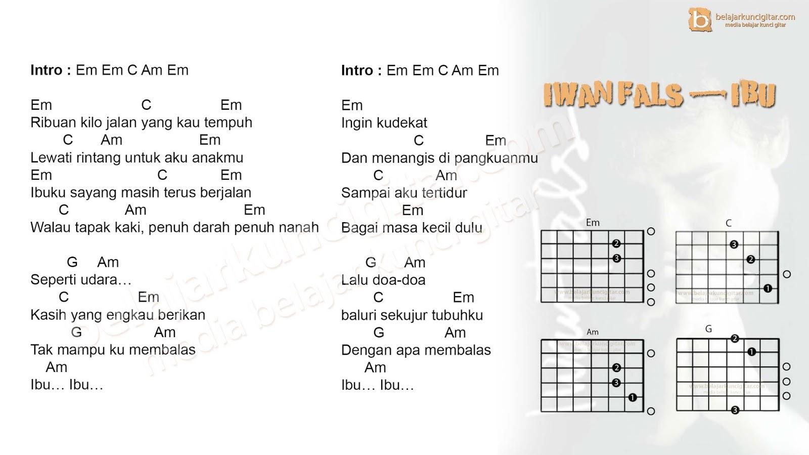 Chord Gitar Iwan Fals Ibu