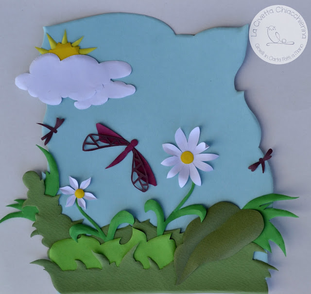 opera in papercut 3D della CivettaChiacchierina, incisione su carta