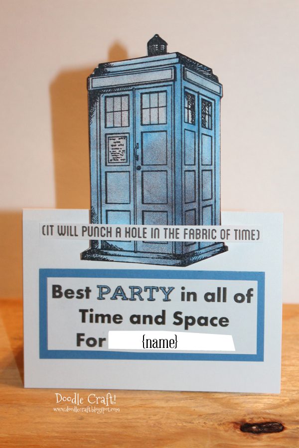 Doodlecraft Doctor Who Party Week Invitations and Decorations – Doctor Who Party Invitations