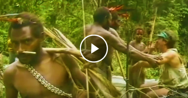 An Incredible footage of an Isolated Tribe saw a white man for the first time! This footage is truly mesmerizing!