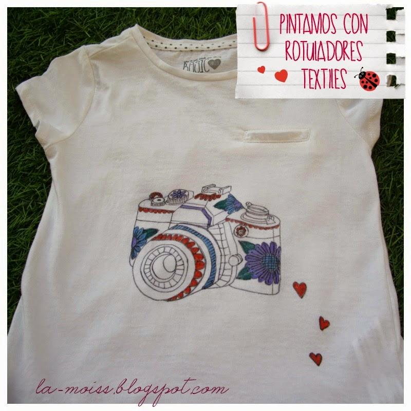 camiseta pintada con rotuladores
