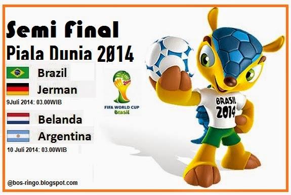 Inilah Jadwal Semifinal Piala Dunia 2014 Brazil Yang Spektakuler