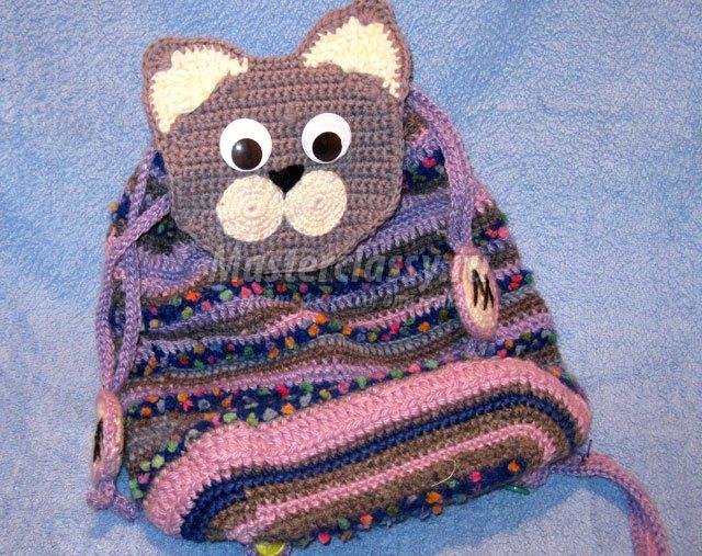 Вязание Самая А.с.Модный рюкзак для подростка девочки