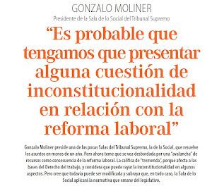 POSIBLE CUESTION DE INCONSTITUCIONALIDAD EN RELACION CON PUNTOS DE LA REFORMA LABORAL
