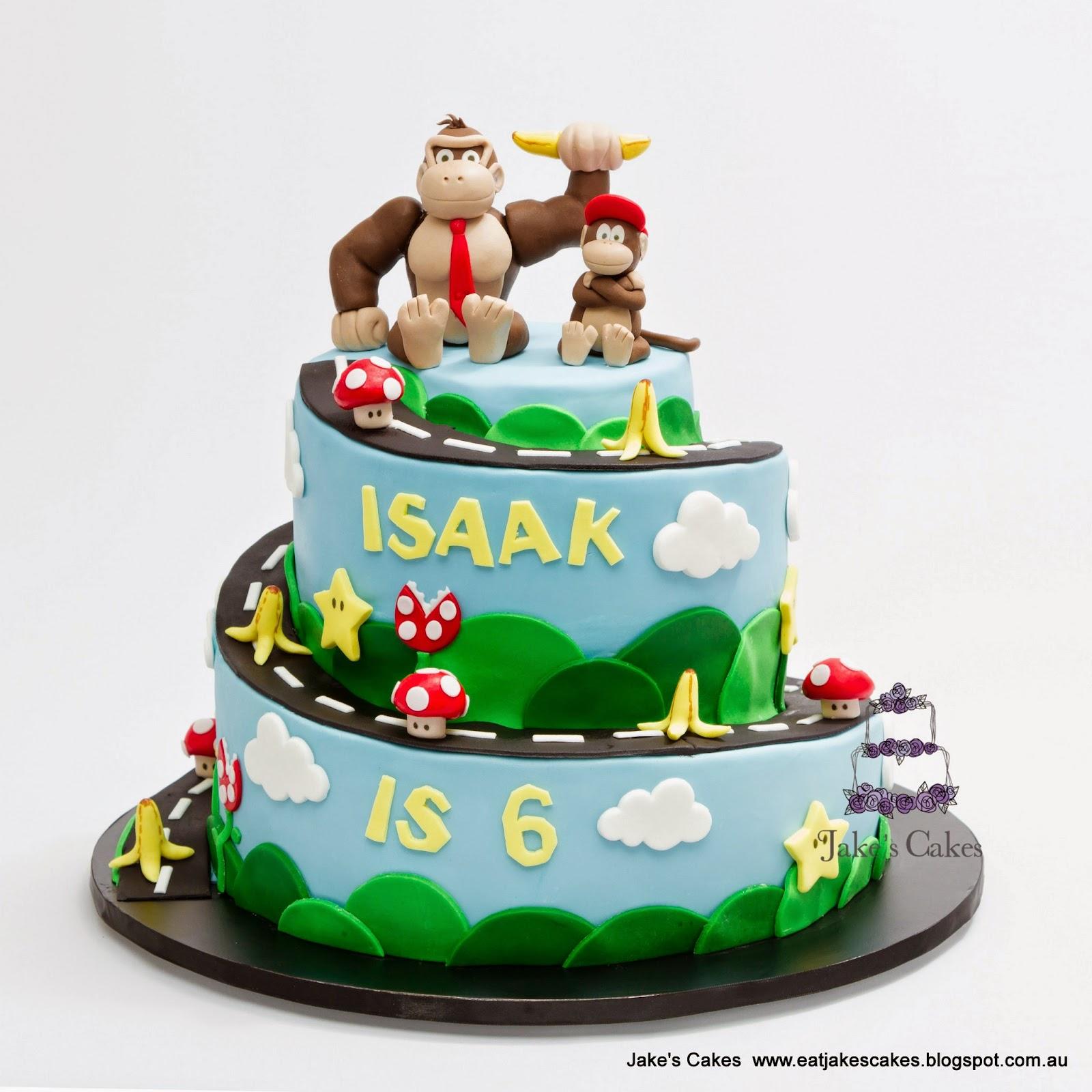 Jake S Cakes Donkey Kong Mario Kart Cake