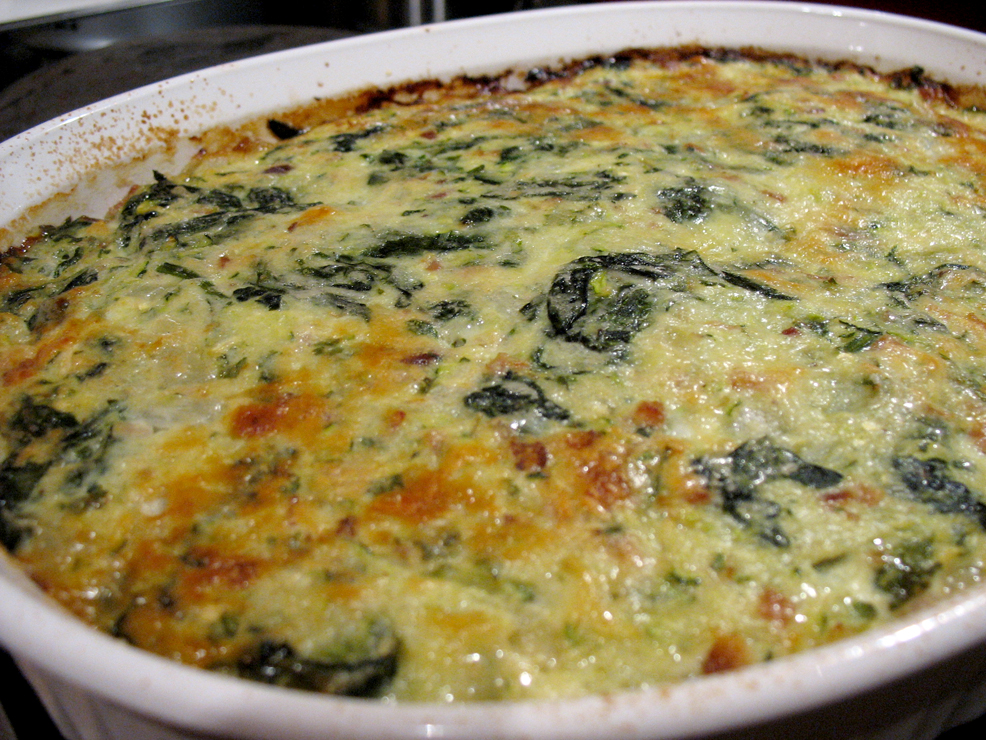 spinach gratin spinach gratin with hard boiled eggs boursin and ...