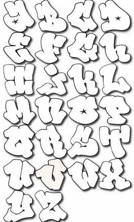 Graffitie: alphabet graffiti bubble letters