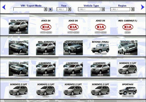 Kia microcat service spare for Kia motors parts catalog