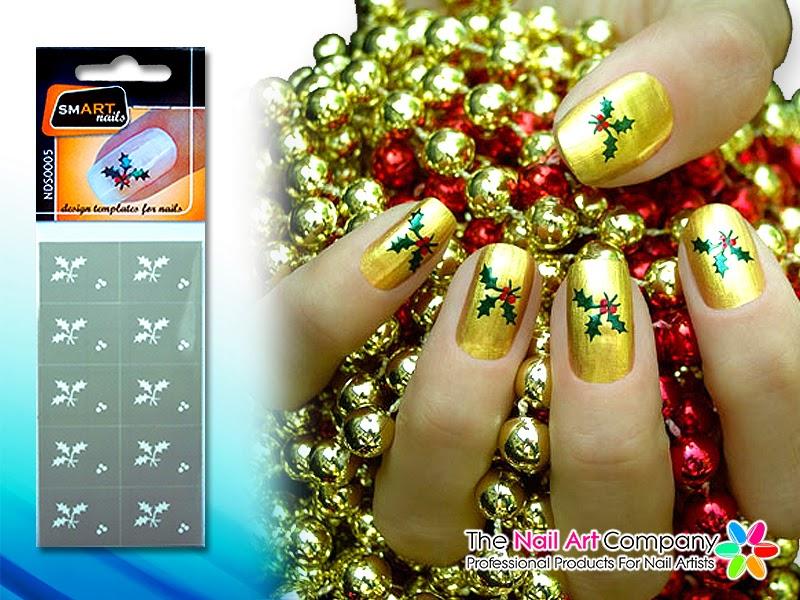 The Nail Art Company Christmas Nail Art Festive Nail Stencils