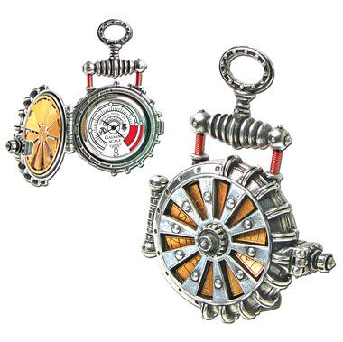 solar powered steampunk pocket watch