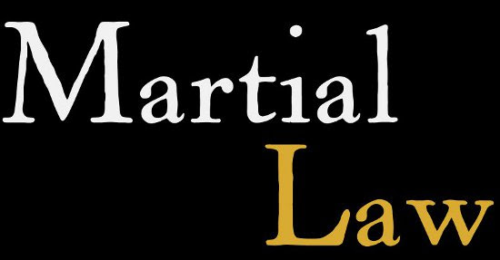 Martial Law By Executive Order