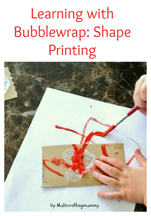 learning with bubblewrap: shape printing
