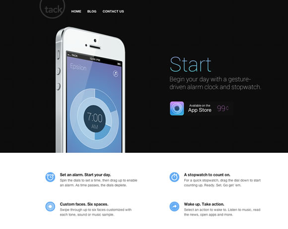 Start iphone app website