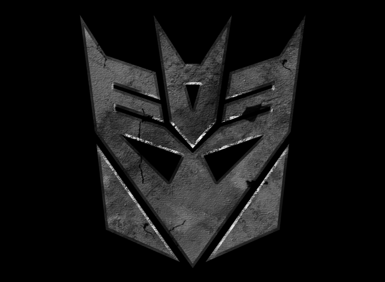 Decepticon Logo Black Cracked Decepticon Ico...