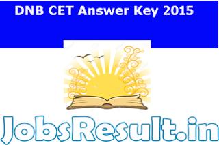 DNB CET Answer Key 2015