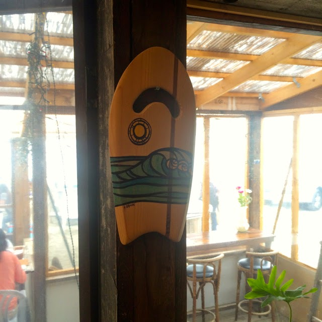 heather brown surf art the captain surfs