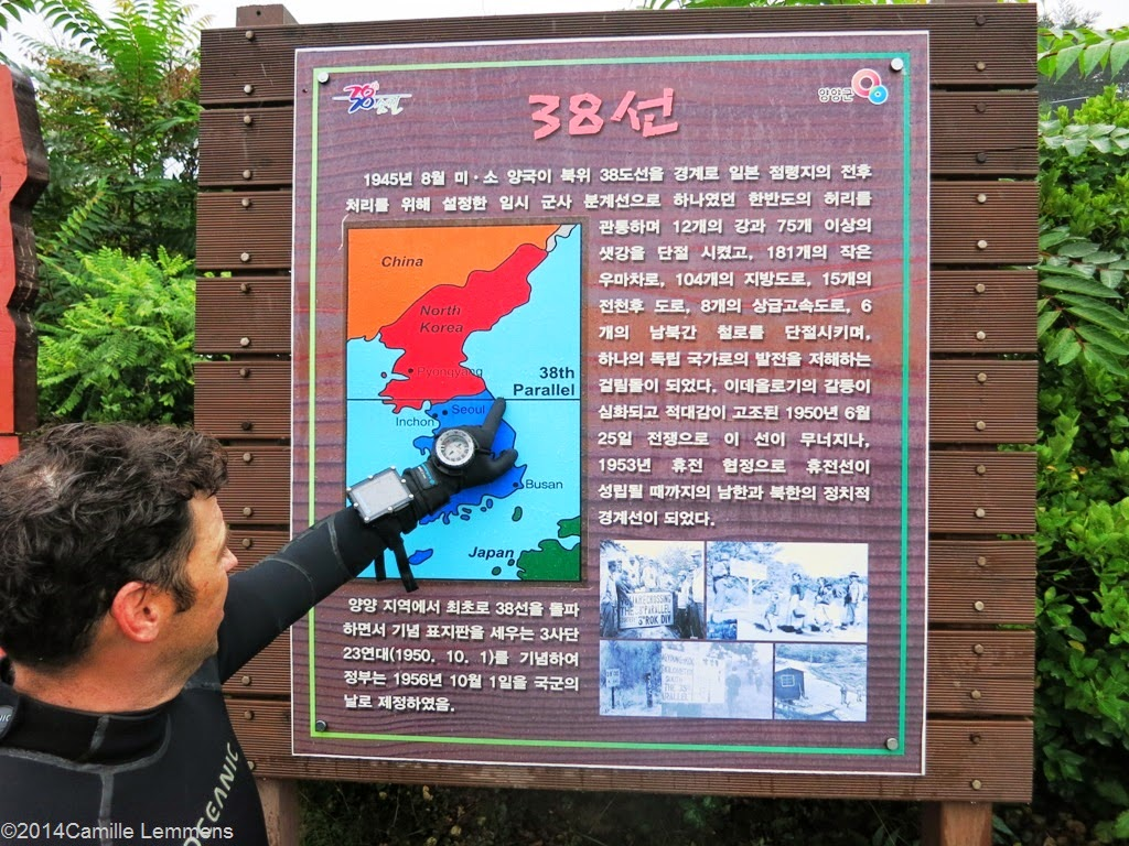 38th Parallel, map