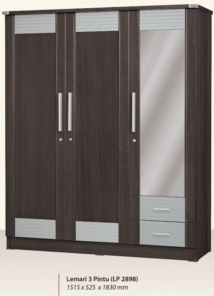 Furniture Lemari Pakaian 3 Pintu Minimalis