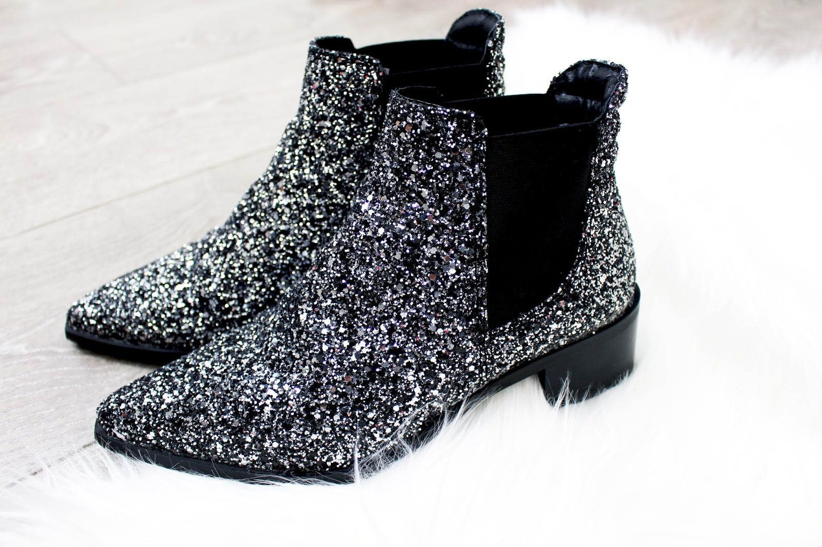 bottines paillettes glitters