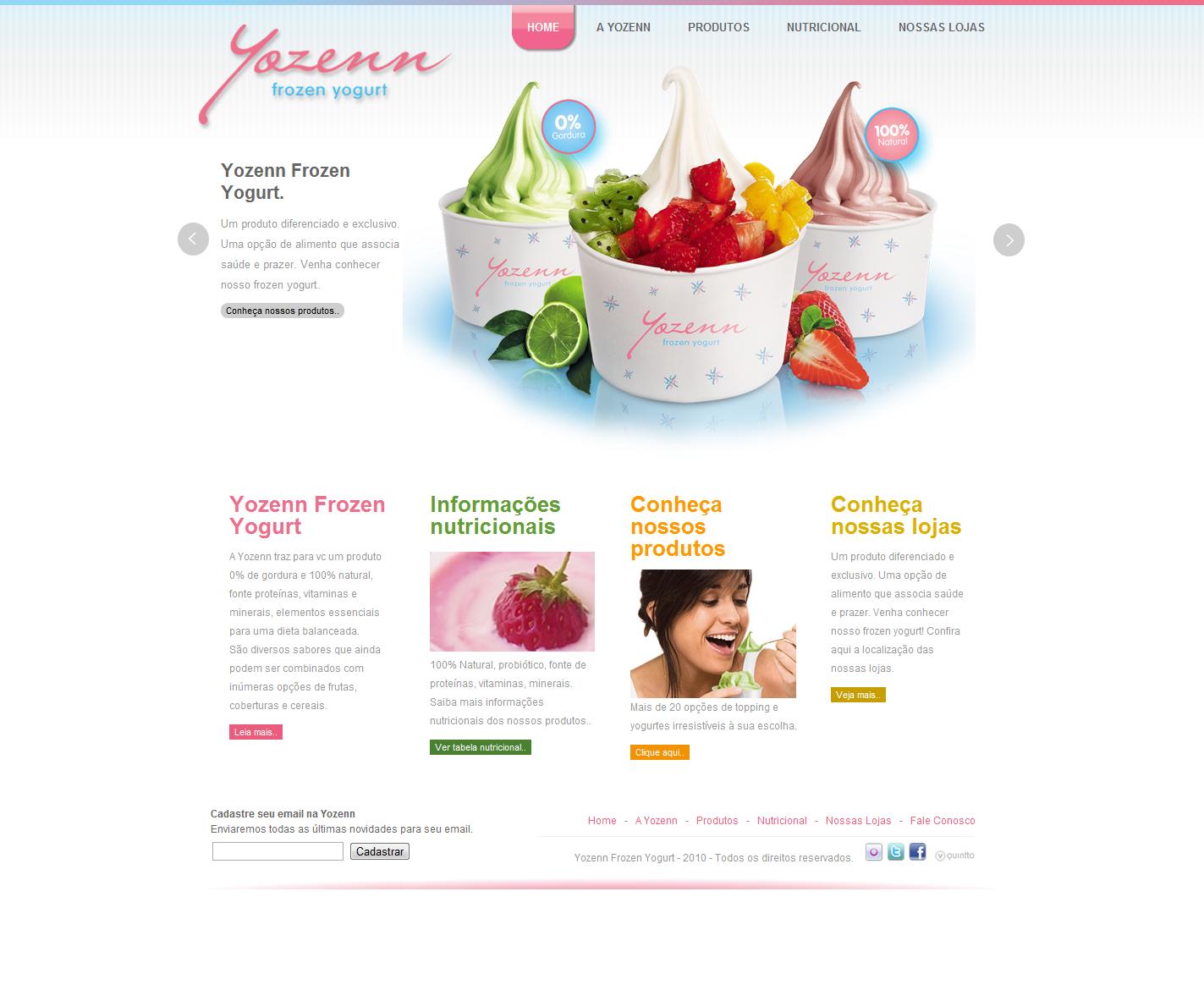 Inspiraci n para p ginas web inspiraci n dise o web heladeria - Diseno de interiores heladerias ...