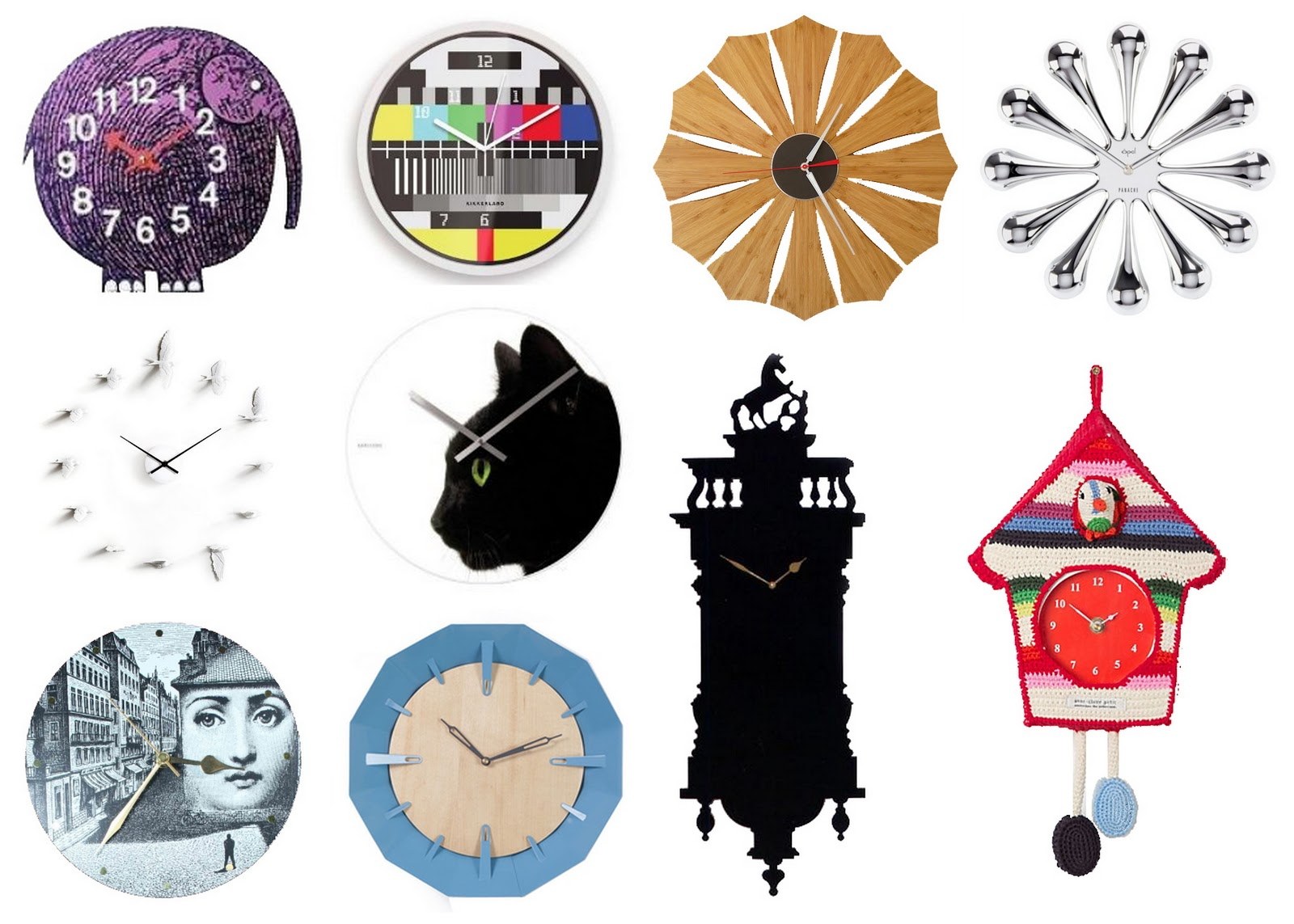 The Well Appointed Catwalk Wall Clocks For Falling Back