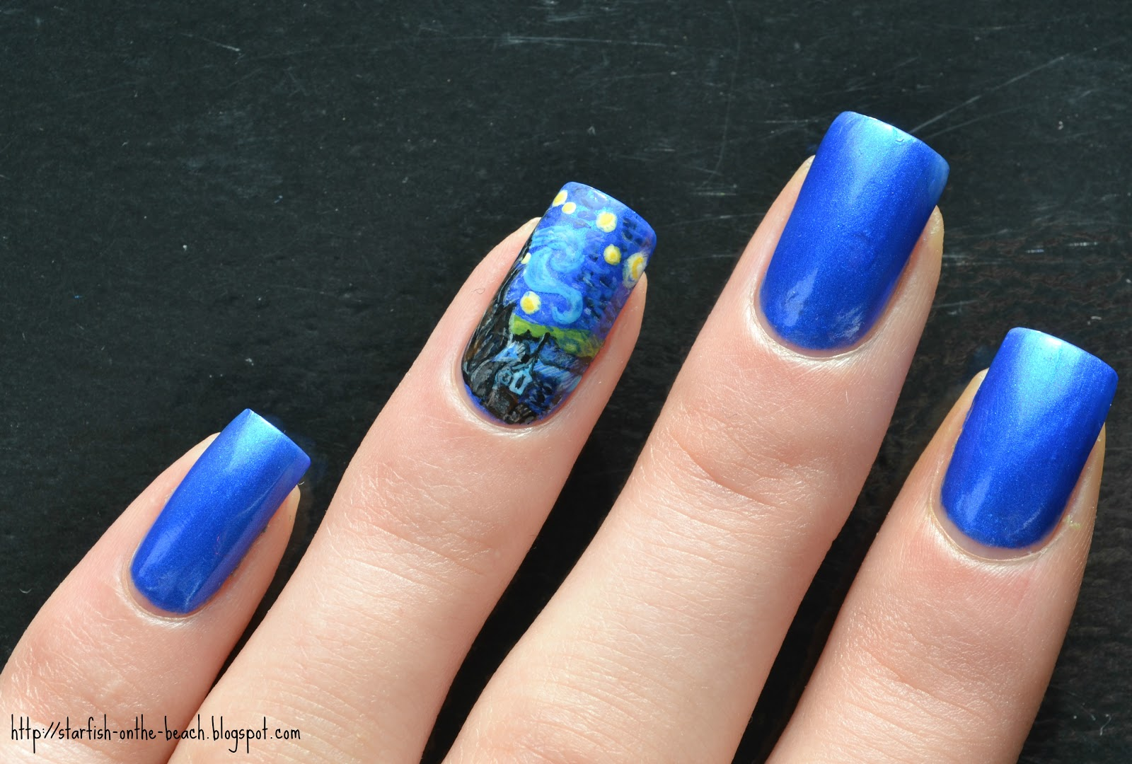 Starfish on the beach 31 day nail art challenge day 27 did you know that van gogh only sold one piece of art when he was alive and it was to his brother okay okay ill get to the nail art p prinsesfo Gallery