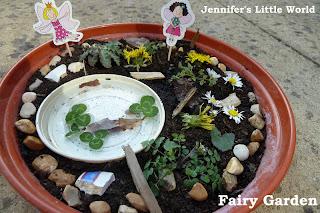 Fairy garden in saucer