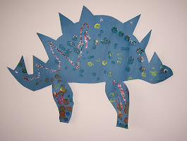 My son's dinosaur from his glitter phase