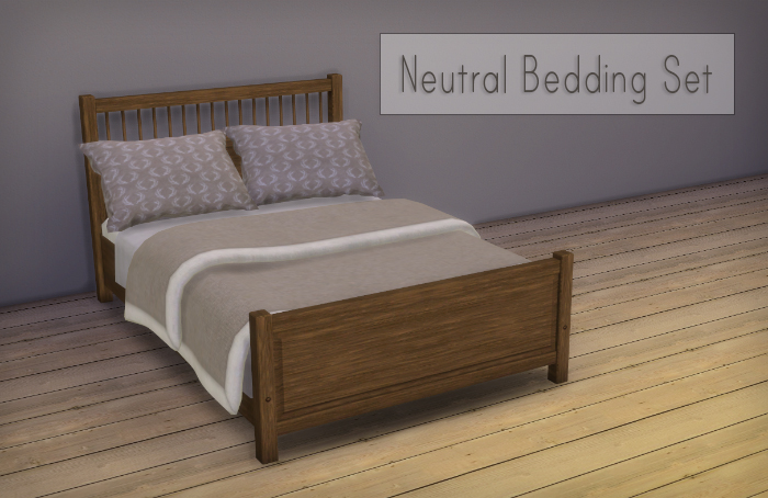 My Sims 4 Blog Natural Bedding Set By Simsrocuted