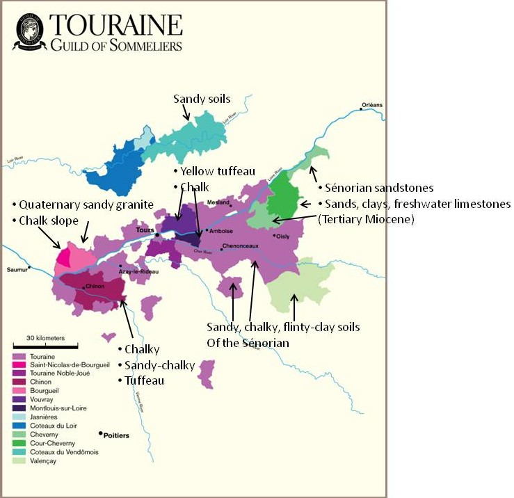 Wine Mise en abyme Loire Valley wine region soils Origins and
