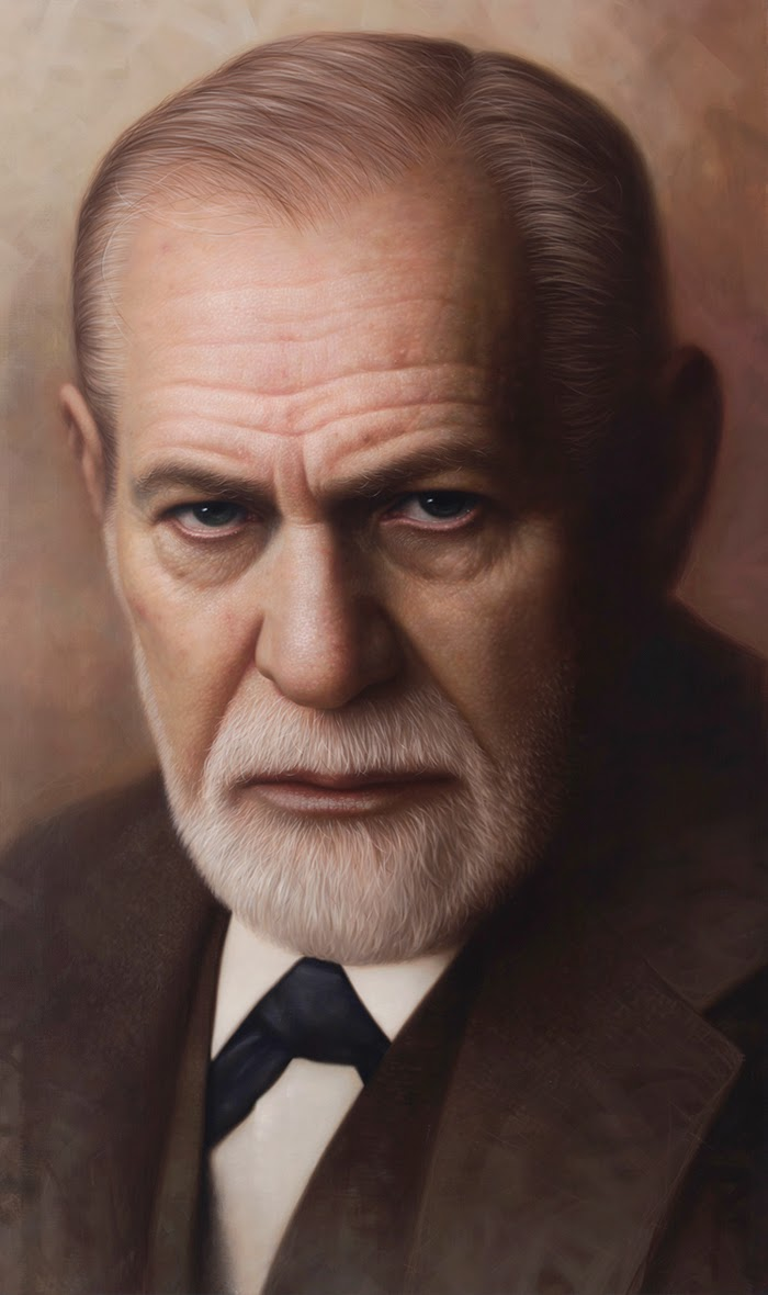 07-Sigmund-Freud-Joongwon-Charles-Jeong-Hyper-Realistic-Paintings-of-the-Past-www-designstack-co