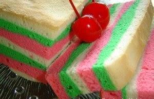 bolu pelangi panggang, rainbow cake, bolu pelangi bakar, bolu pandan, bolu pelangi ncc, bolu pelangi resep, bolu pelangi putih telur