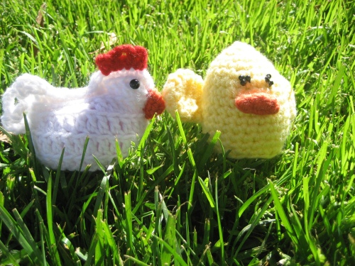 Primitive Pairings Chicken Collection Hot Pad Crochet Pattern