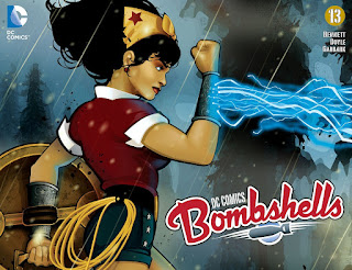 Cover of DC Comics Bombshells #13 featuring Wonder Woman