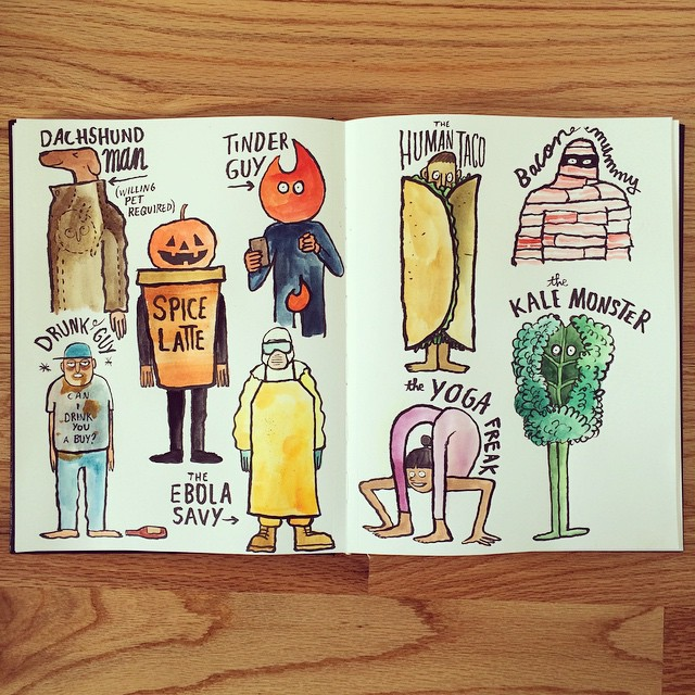 Halloween Costume Ideas by Jean Jullien