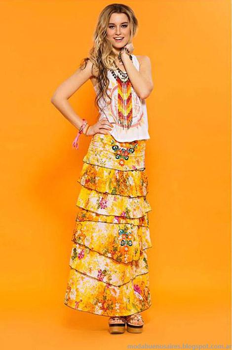 Moda verano 2015 Sophya faldas.