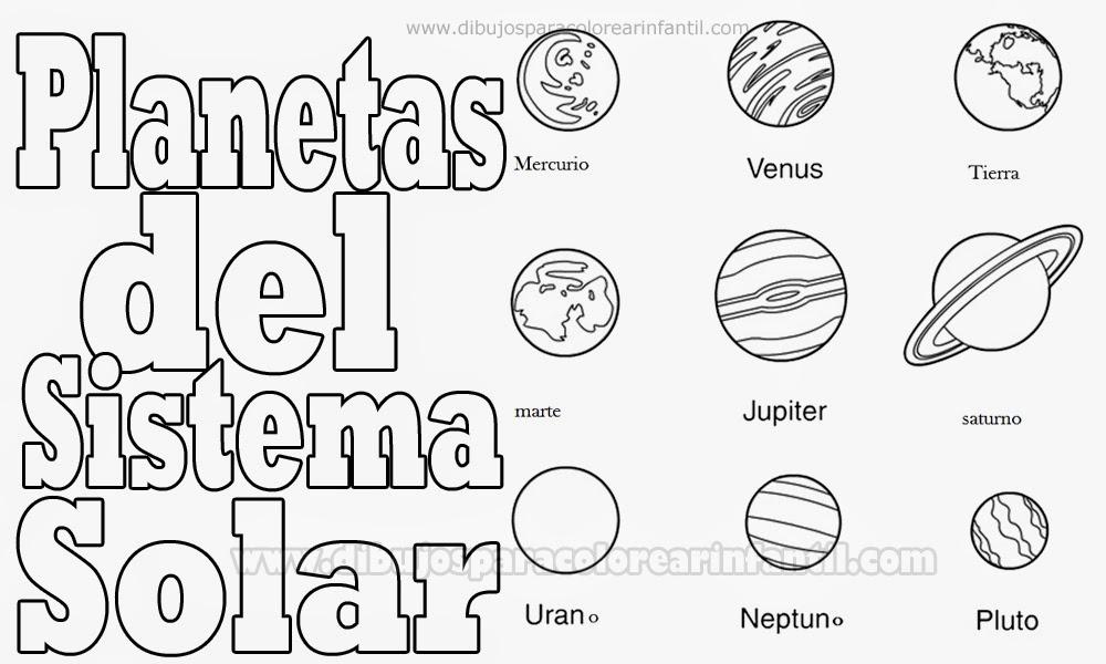 sistema solar para colorear