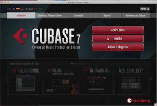 cubase tutorial, instalacion cubase