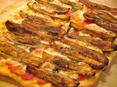 Fairy tale eggplant flatbread