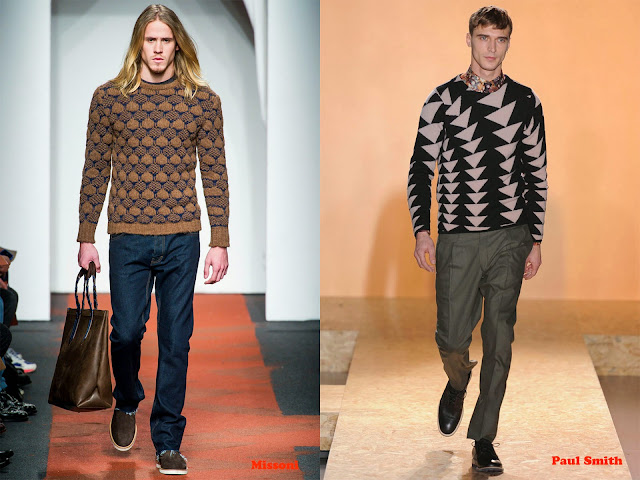 Tendencia otoño_invierno 2013-14 jersey con estampado geométrico: Missoni y Paul Smith
