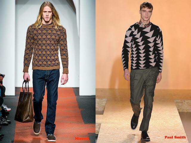 Tendencia otoño_invierno 2013-14 jersey con estampado geométrico: Missoni y Paul Smith