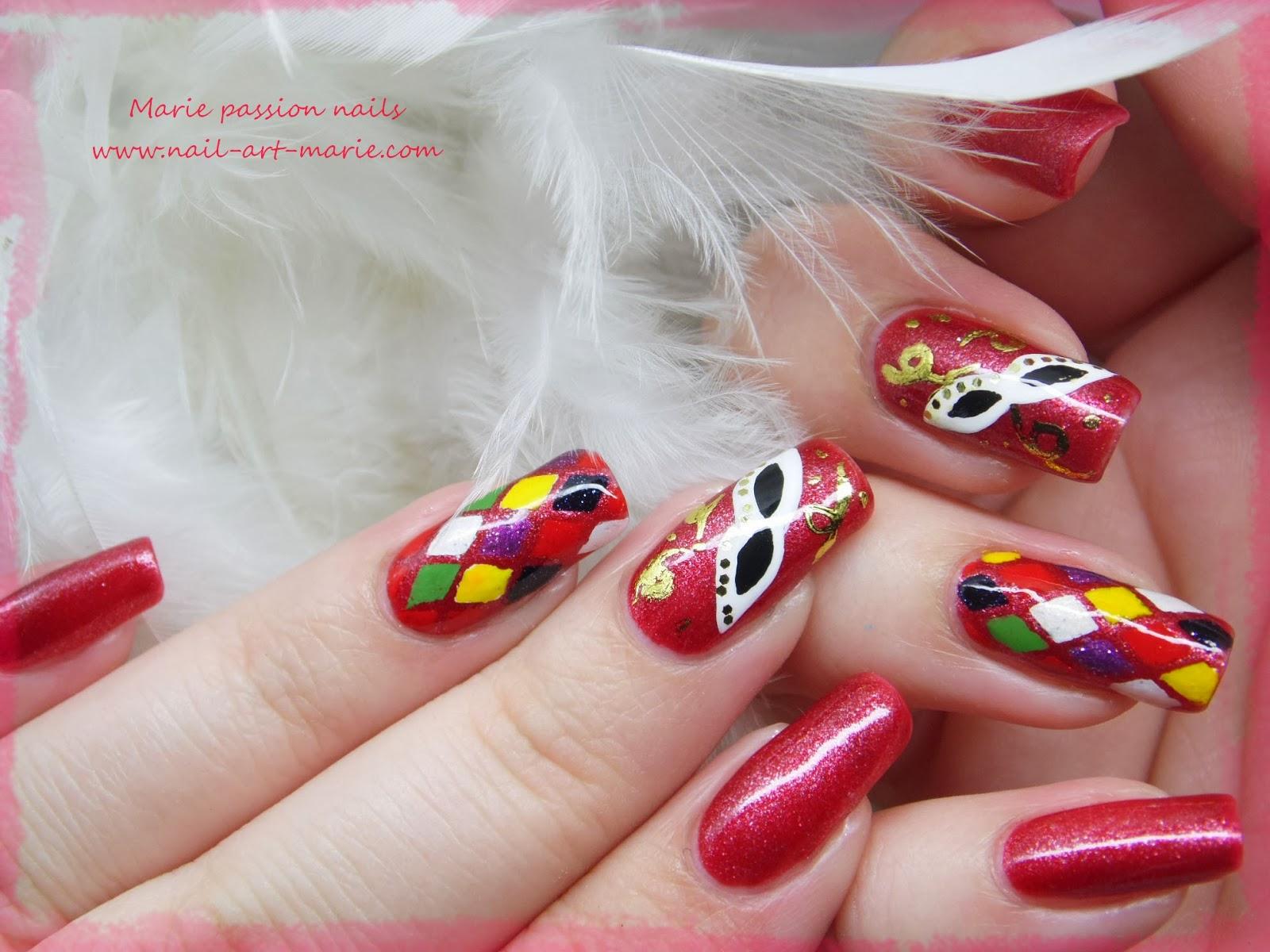 Nail Art Carnaval de Venise5