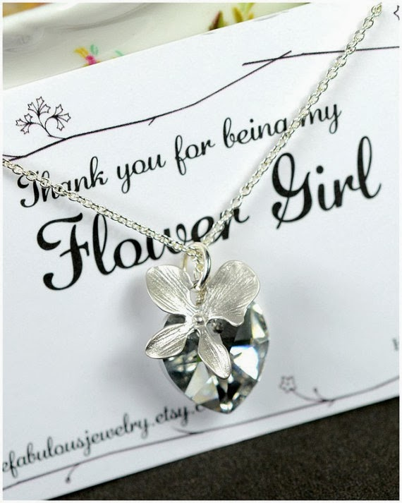 Doeblerghini Bunch:  Thank You Gifts - Flower Girl Necklace